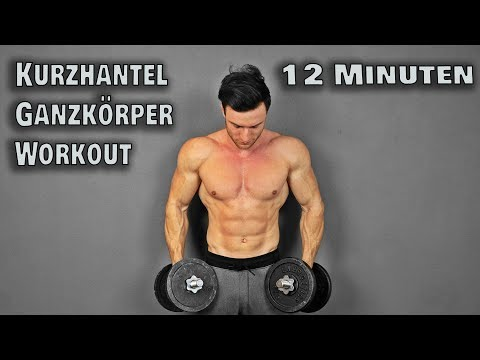 12 Minuten Kurzhantel Workout für Zuhause! (Full Body)