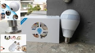 Bulb Security Camera 360° View IP WiFi Panoramic 960P Unboxing URDU/HINDI By M-Tech