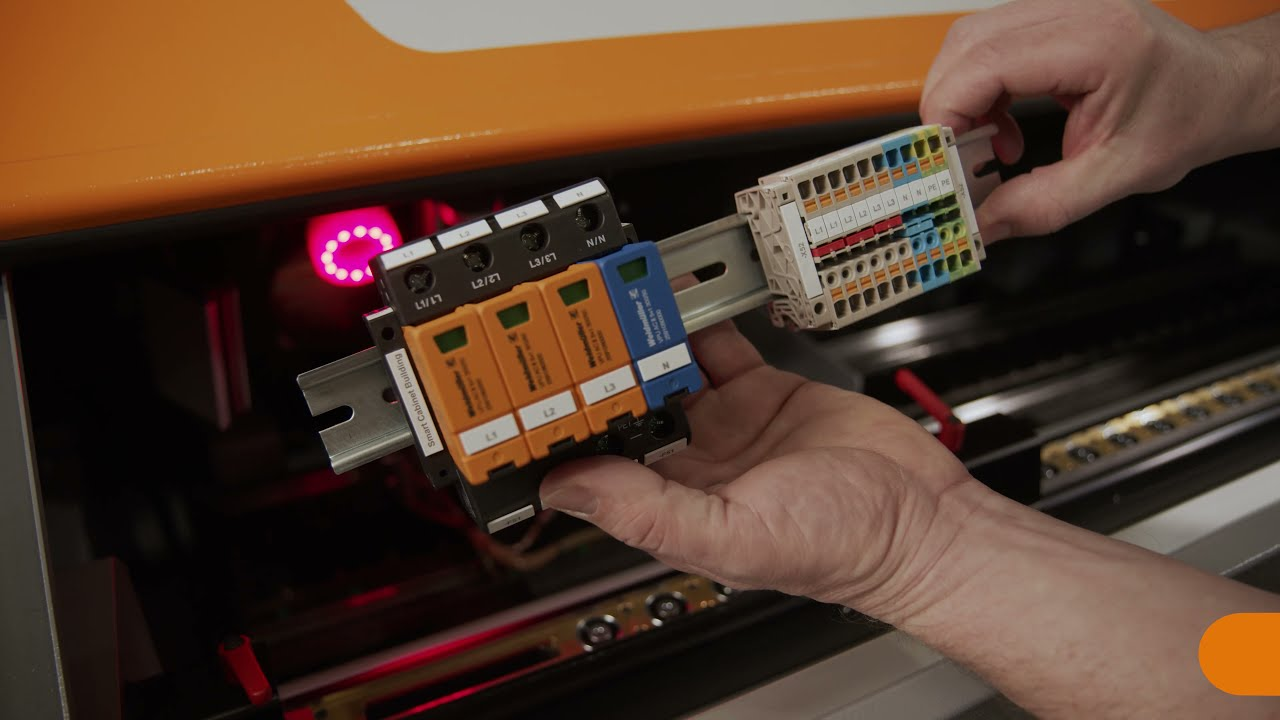 9. Automated marking of terminal blocks and other mounting rail components with the RailLaser