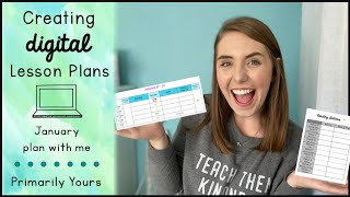 How I Create Digital Lesson Plans // January Plan With Me // First Year Teacher Vlog