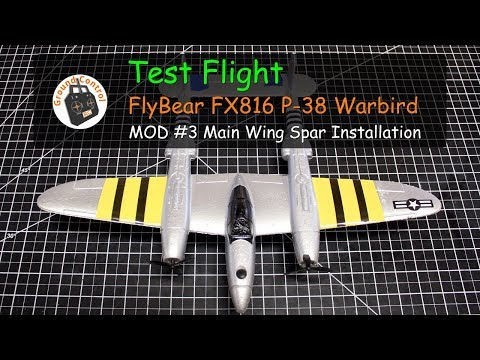 FlyBear P-38 RTF Bomber from Banggood - MOD#3 Test Flight