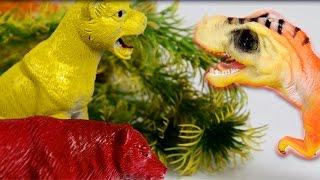 Динозавры. Мега Битва Динозавров и Хищников! Мультик про динозавров. Игрушки ТВ