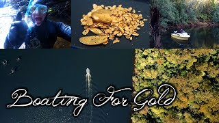 Finding a huge gold nugget and Prospecting and Boating for Gold in an old timers goldfield