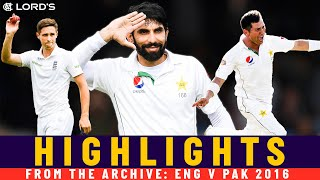 Misbah's Press-ups plus Yasir & Woakes 10-fers! | Classic Match | England v Pakistan 2016 | Lord's
