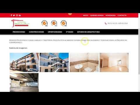 Diseño web para constructora - promotora de Jaén. Construcciones Sánchez   de Lopera