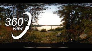FAR NORTH ALGONQUIN CANOE TRIP - 360° VR VIDEO - DAY 6 - SUNSET ON MANITOU LAKE! (4K)