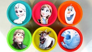 Learn Colors with Disney Frozen 2 Play-doh Lid Surprises with Anna, Elsa & Magical Microwave