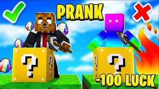 CLASSIC LUCKY BLOCK PRANK - MINECRAFT MODDED MINIGAMES! | JeromeASF