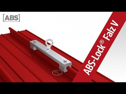 Présentation vidéo compacte concernant le point d'ancrage ABS-Lock Falz V (joint arrondi)
