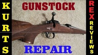 How To Repair Your Damaged Gunstock  Kurts Custom Carving And Checkering  Rex Reviews