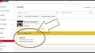 YouTube No Activity to show Analytics Fix-5 solutions