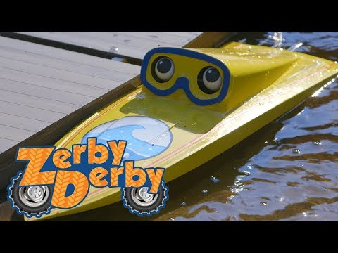Zerby Derby | Speed Boat | Full Episodes | Kids Cars