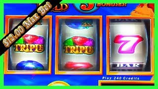 OMG! I TRIGGERED A BONUS ON A MASSIVE BET! Mermaid's Gold  SLOT MACHINE Challenge W SDGuy1234