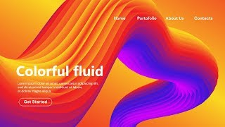 How To Make 3D Colorful Fluid Landing Page Design - Adobe Illustrator Tutorial