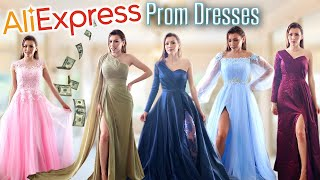 TRYING ON CHEAP PROM DRESSES FROM AliExpress!👗**Huge Success + Giveaway**