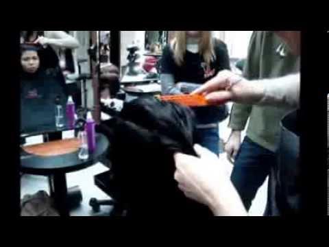 градуированная стрижка на длинных волосах