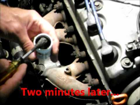 How To Repair Cracked Exhaust Manifold With QuikSteel/ThermoSteel