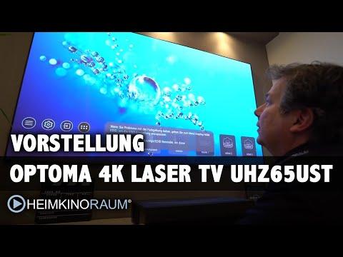 """4K Laser TV OPTOMA UHZ65UST P1 100"""" Test Größter Fernseher - besser als OLED?"""