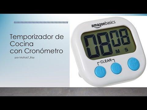 Temporizador Digital de Cocina con Cronómetro, AmazonBasics DKT01