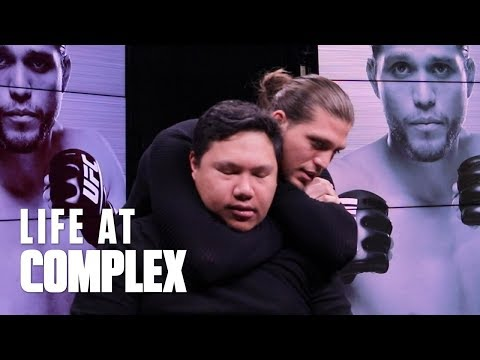 GETTING CHOKED OUT BY UFC FIGHTER BRIAN ORTEGA! | #LIFEATCOMPLEX