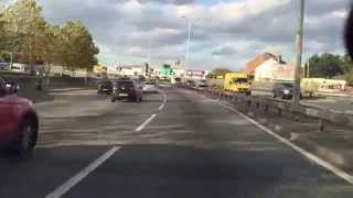 preview picture of video 'Driving on A406 northbound from Woodford to Palmers Green, London.'