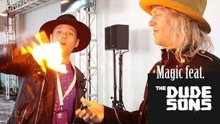 Burning money magic trick 🔥ft. the Dudesons-Julien Magic