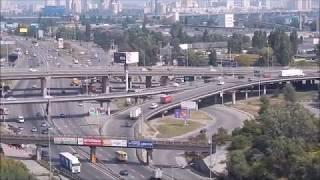 #Киев Панорама города Киева с Лысой горы на Выдубичах