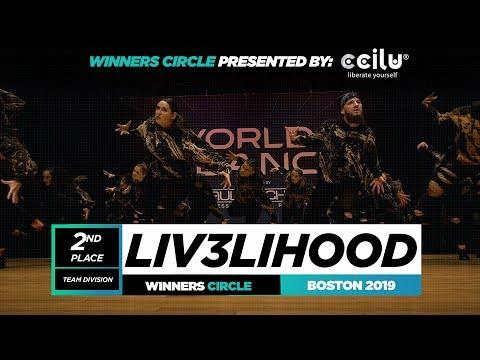 LIV3LIHOOD   2nd Place Team   Winners Circle   World of Dance Boston 2019   #WODBOS19