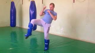 Передвижения в тайском боксе, ходьба, смена стоек - урок 2ой