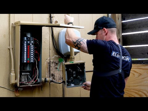 How to Replace an Electrical Service Panel, Meter, and Riser (PART 1)