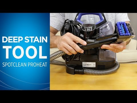 How to Use the Deep Stain Tool with Your SpotClean Portable Carpet Cleaner