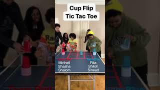 Cup Flip Tic Tac Toe