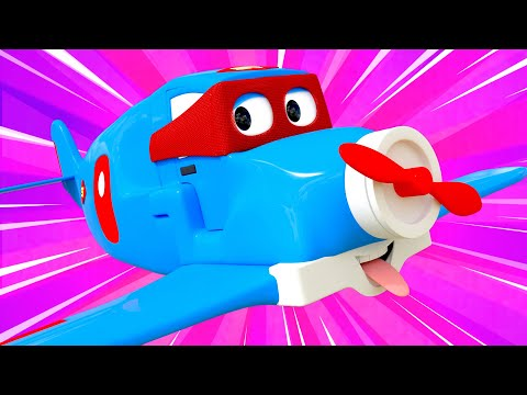 The Super Plane - Carl the Super Truck - Car City ! Cars and Trucks Cartoon for kids