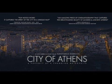 Nočný časozber z gréckej metropoly Atén