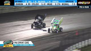 Knoxville Raceway Pace Pro Sprints Highlights - June 22, 2019
