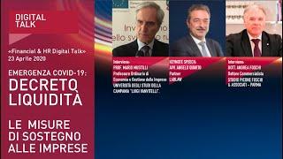 Youtube: Decreto Liquidità: misure di sostegno alle imprese | Digital Talk parte1: KeyNote Speech | LabLaw