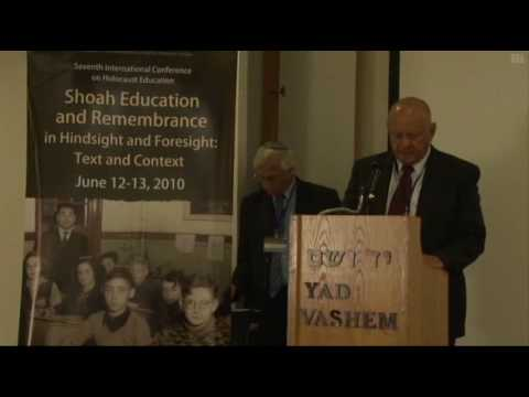 Remarks by Mr. Dan Tichon,  Chairman of the International Cooperation on Holocaust Education, Remembrance and Research (ITF) [03:42 min]