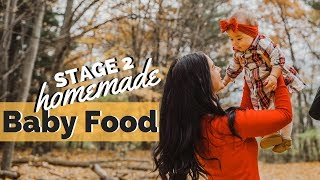 VEGETABLE & BEEF PUREE FOR 6 MONTH BABY | Stage 2 Homemade Baby Food