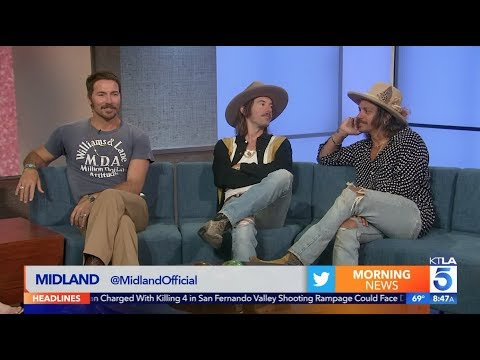 "Texas Country Trio ""Midland"" on their New Album Coming Out ""Let It Roll"""