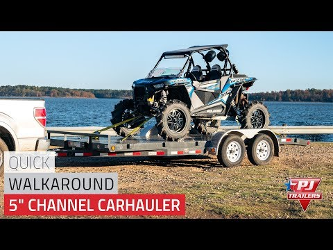 2021 PJ Trailers 5 in. Channel Carhauler (C5) 18 ft. in Hillsboro, Wisconsin - Video 1