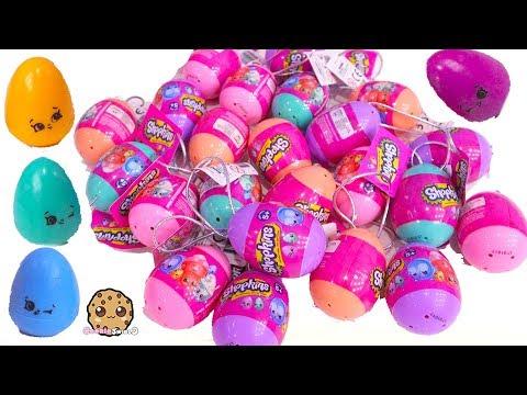 Rainbow Mini Baby Shopkins Hunt - Rainbow Surprise Eggs - Toy Video