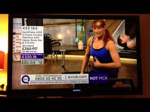 Pilates Reformer guide on QVC TV channel with Emma Newham of Pilates Union