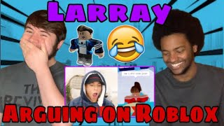 GETTING ATTACKED ON ROBLOX BY EVERYONE LARRAY REACTION