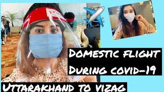 VLOG | Travelling by flight during COVID-19 |Domestic flight | Flight rules during lockdown |