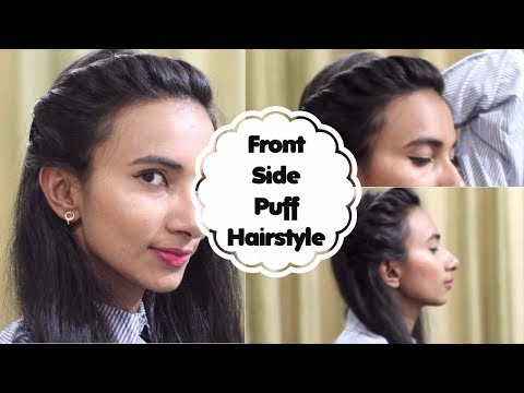 Side Puff Hairstyles For Medium Hair