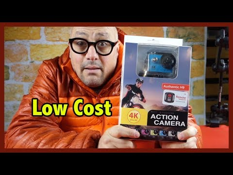 Action Camera low cost 4K Ultra HD Impermeabile, Lente Grandangolo 170°