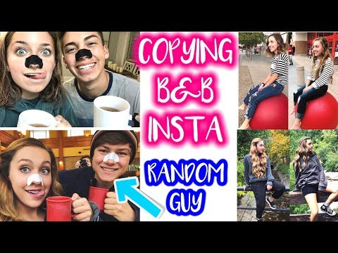 COPYING BROOKLYN & BAILEY'S INSTAGRAM FOR A WEEK!