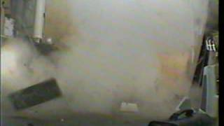 Superheated steam bottle explosion
