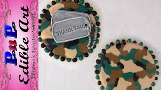 Camouflage Veteran Thank You Cookie