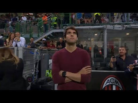 Kaka in San Siro watching AC Milan vs Roma